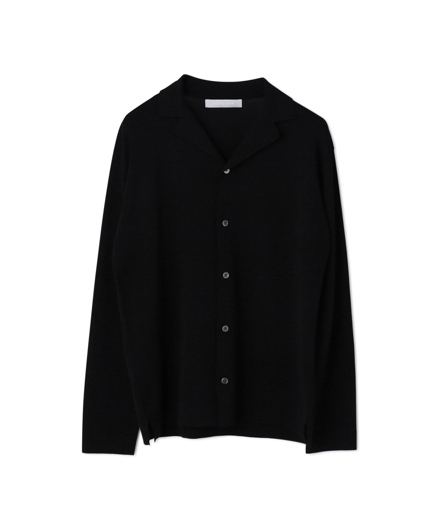 ESTNATION / ウォッシャブルニットシャツ