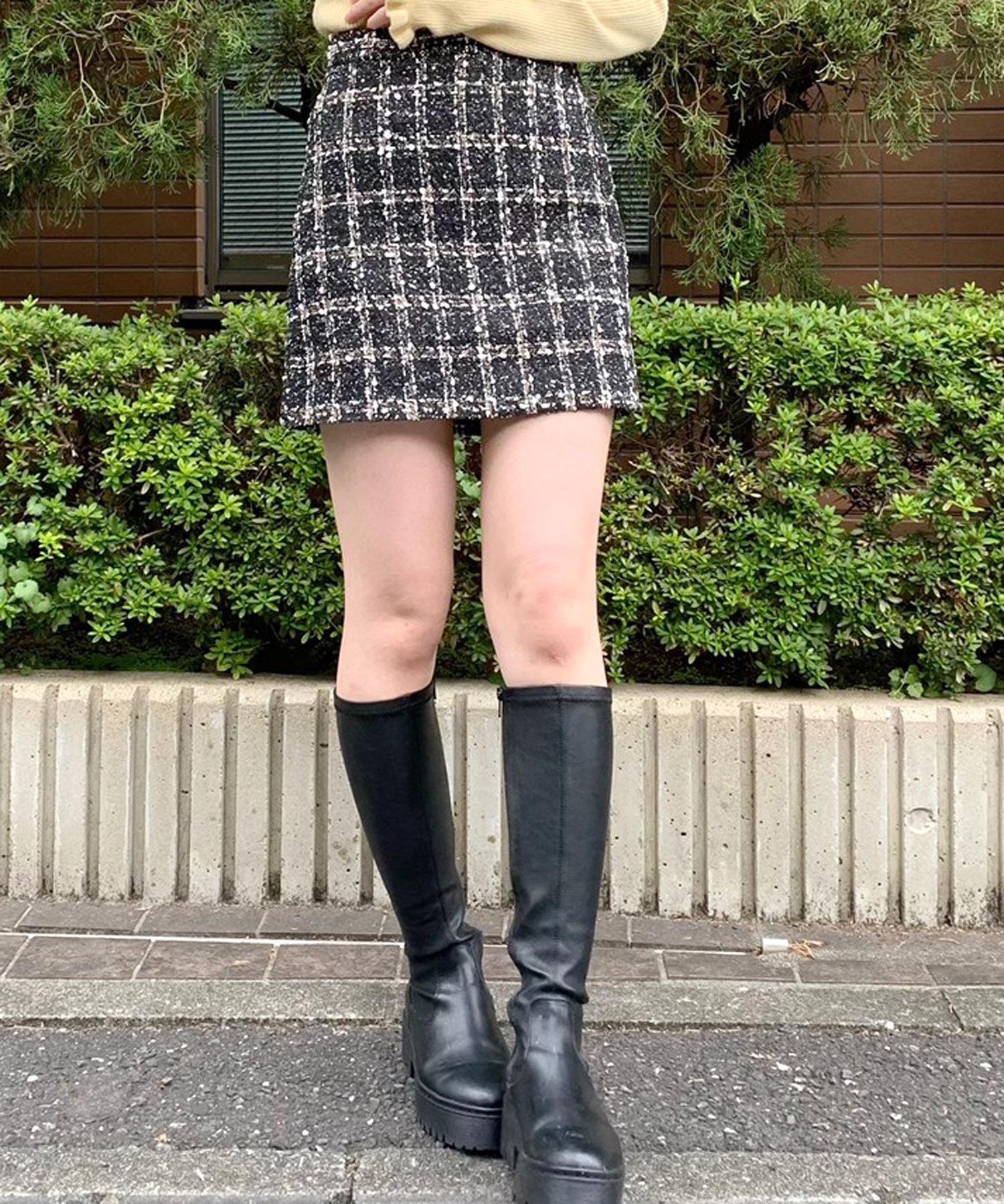 【titty&Co.PETIT】ツイードミニスカート