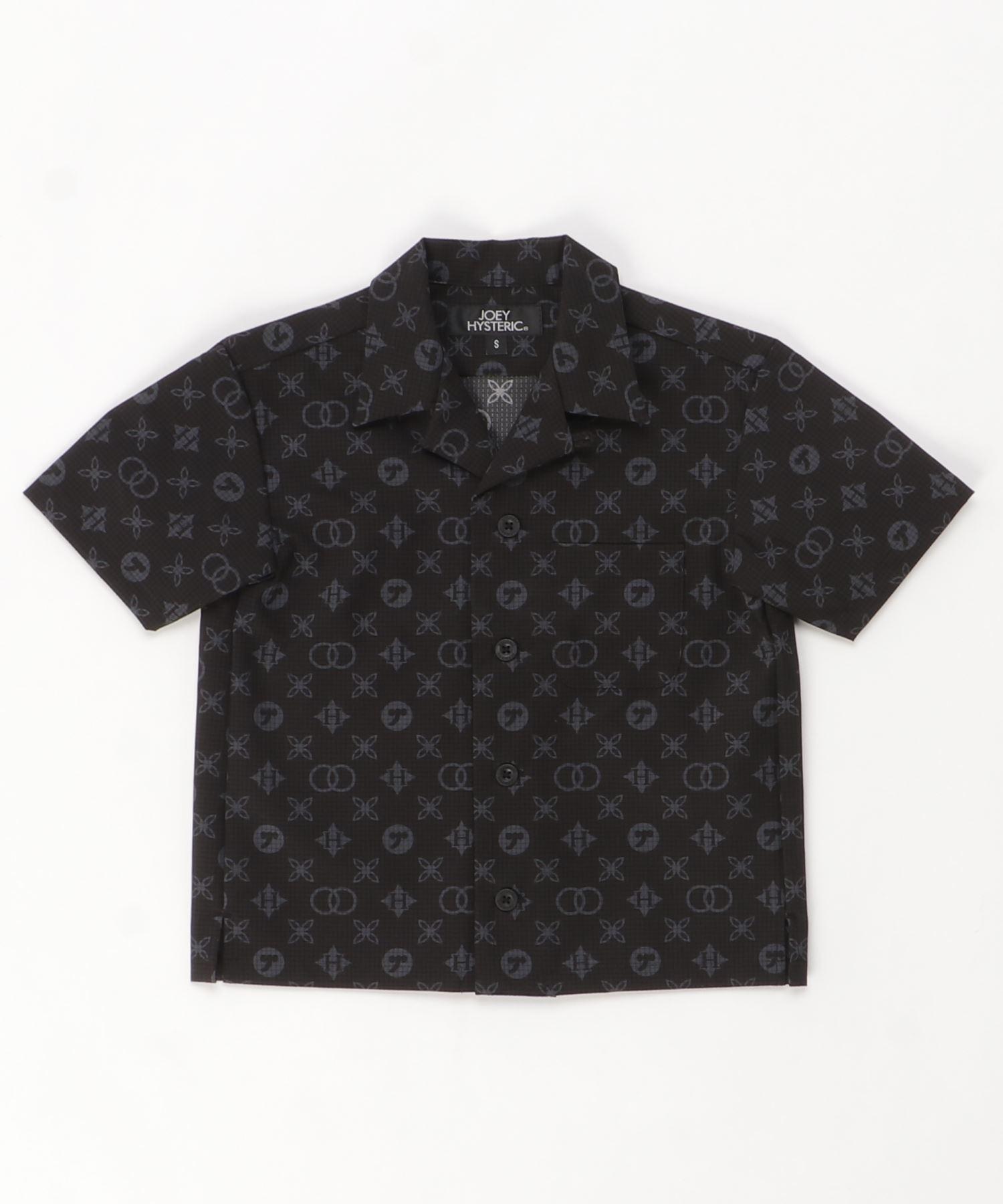 MONOGRAM柄 オープンカラーシャツ【S/M】