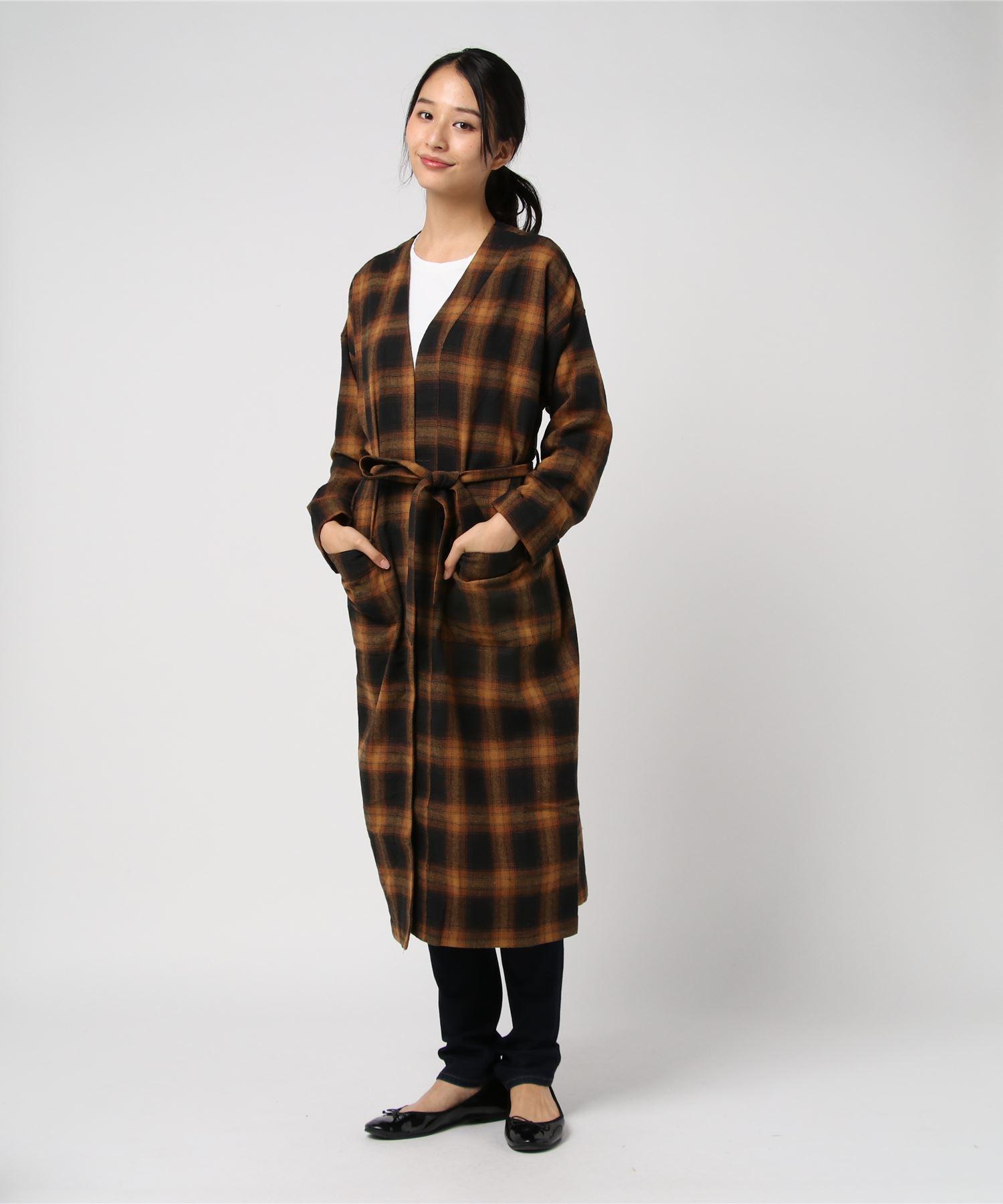 American Rag Cie Plaid Robe Dress/アメリカンラグシー チェックローブドレス