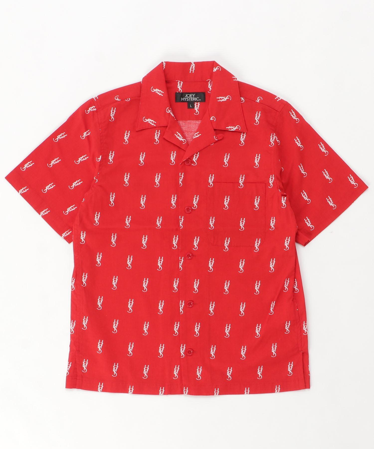 HYS MONOGRAM柄 オープンカラーシャツ【L】