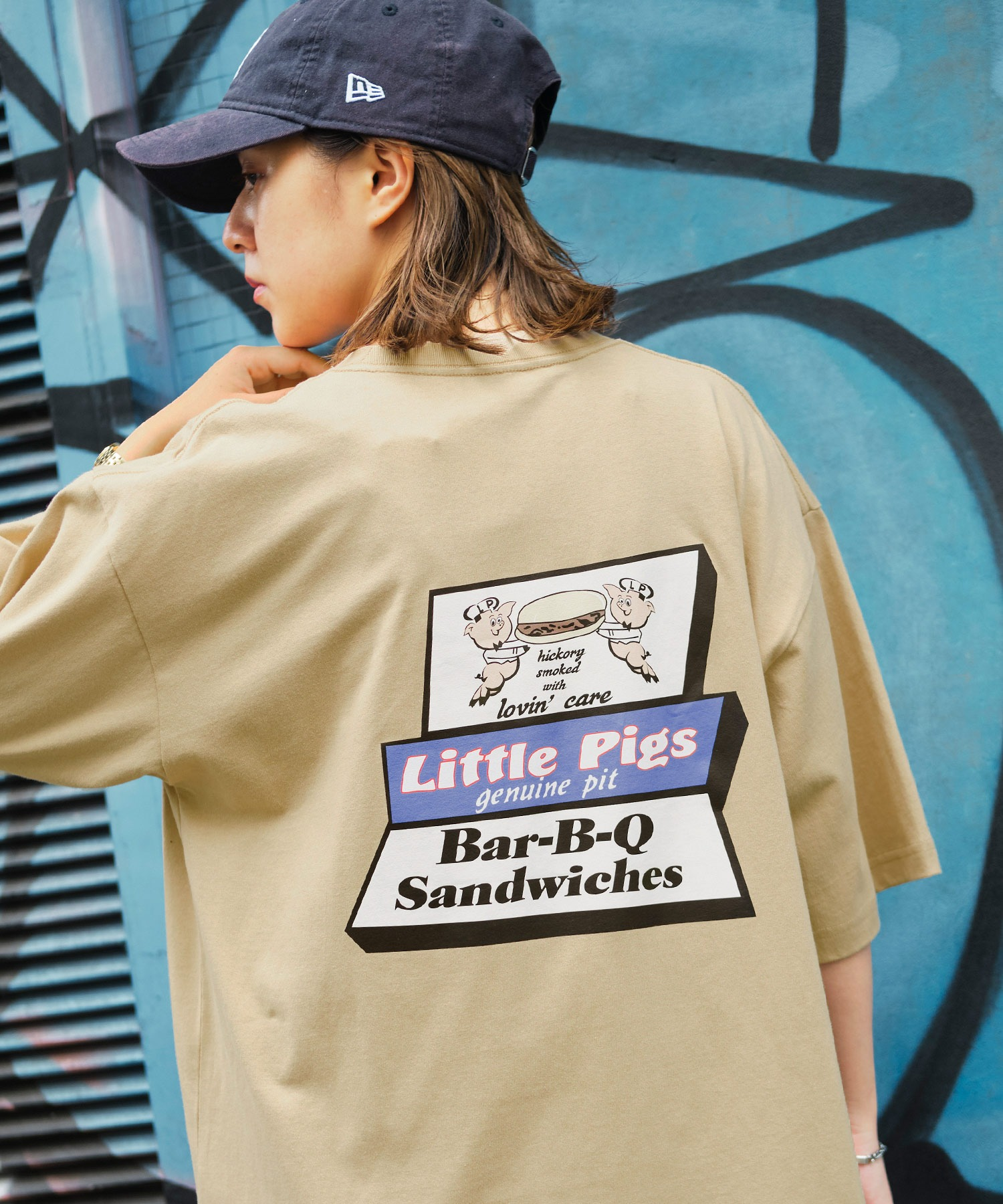 AMERICAN SHOP SIGN/アメリカンショップサイン 別注 オーバーサイズ プリント半袖カットソー
