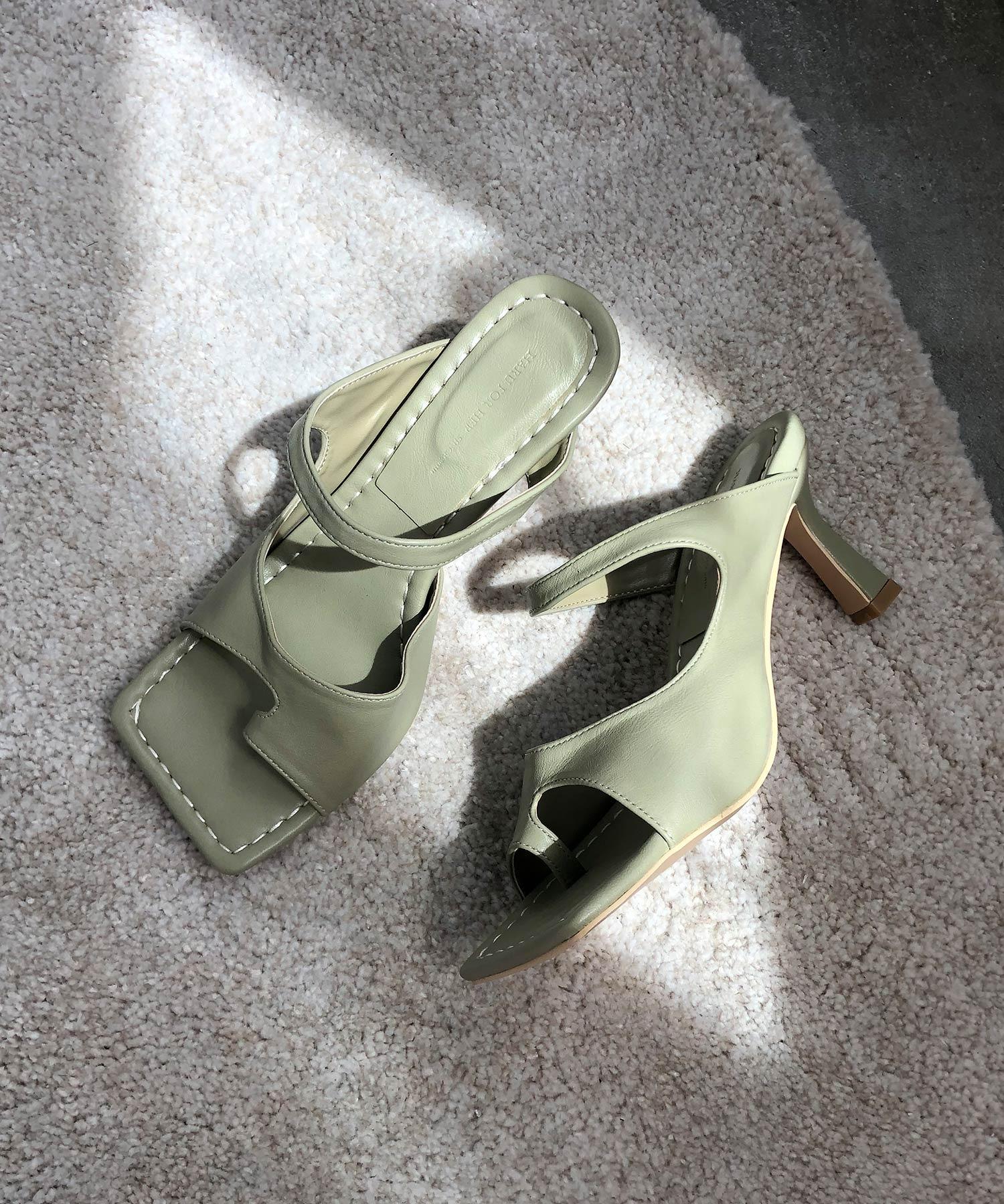 【chuclla】Square-toe thongs mule sb-6 chs38