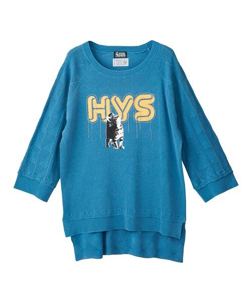 HYS CATチェーン刺繍 プルオーバー