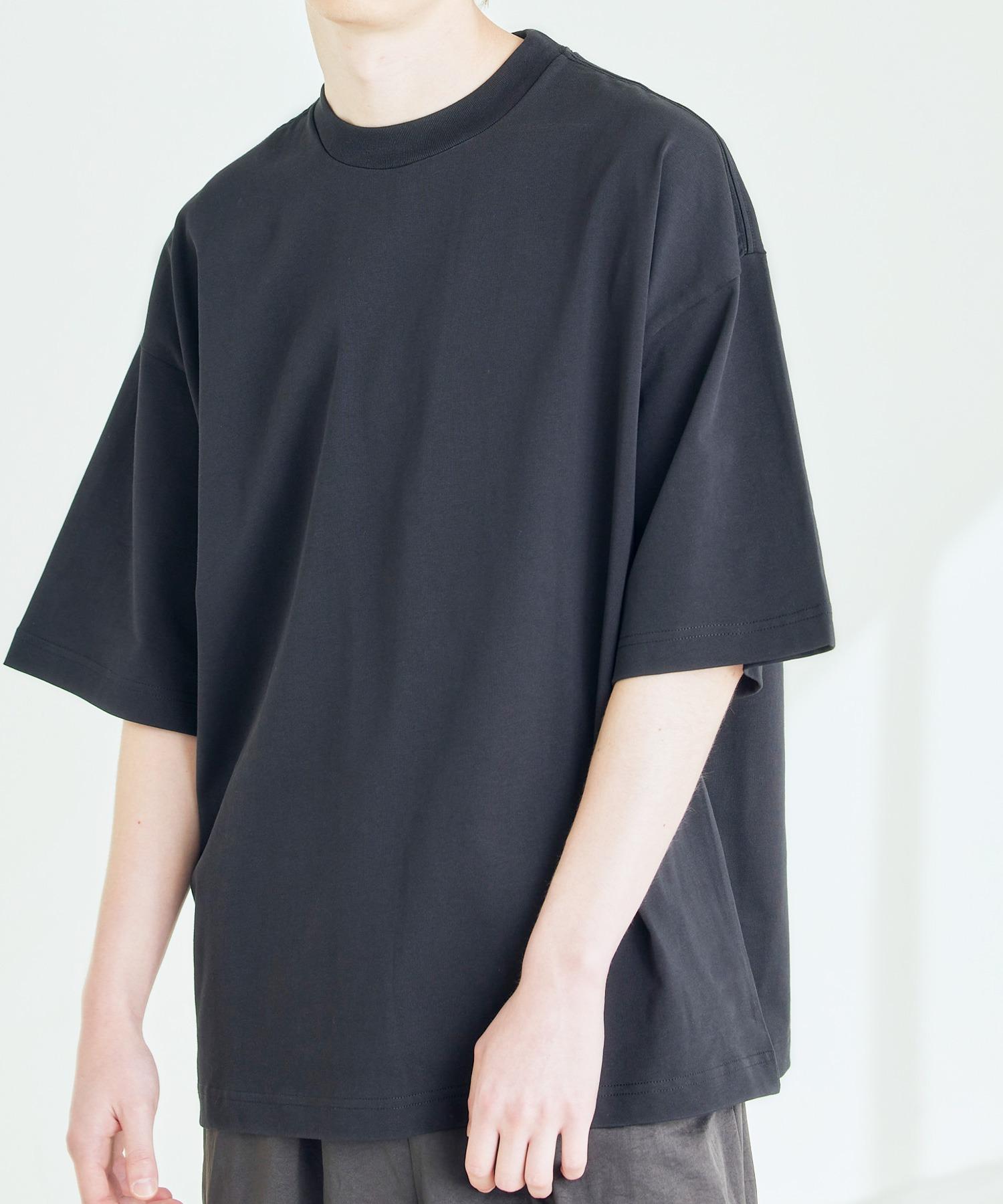 シルケットライク コーマ綿糸度詰め天竺 オーバーサイズ S/S カットソー 無地T トップス Tシャツ  -2021SUMMER-