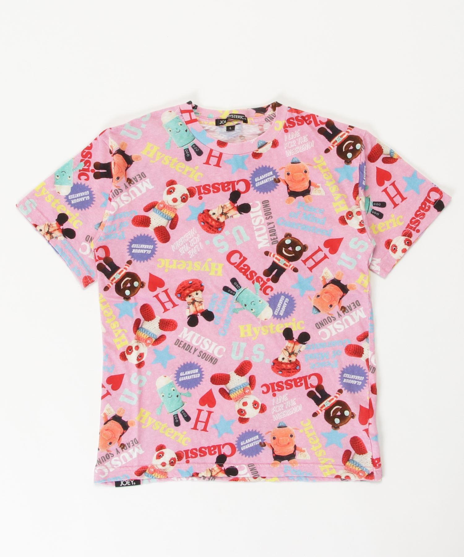 YOKO DOLL MIX柄 Tシャツ【L】