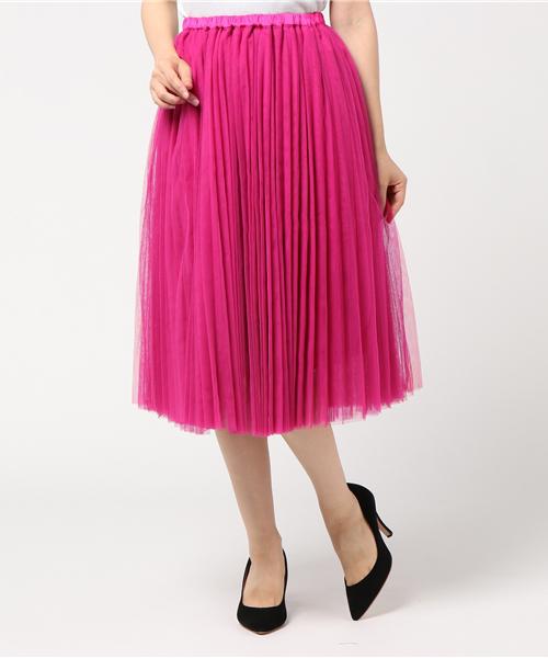 【Dignite collier】チュールプリーツスカート