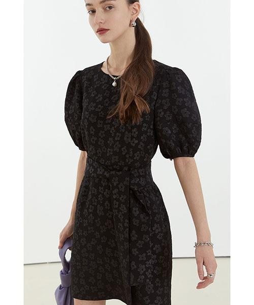 【Fano Studios】【2021SS】Floral jacquard short dress FC21L042