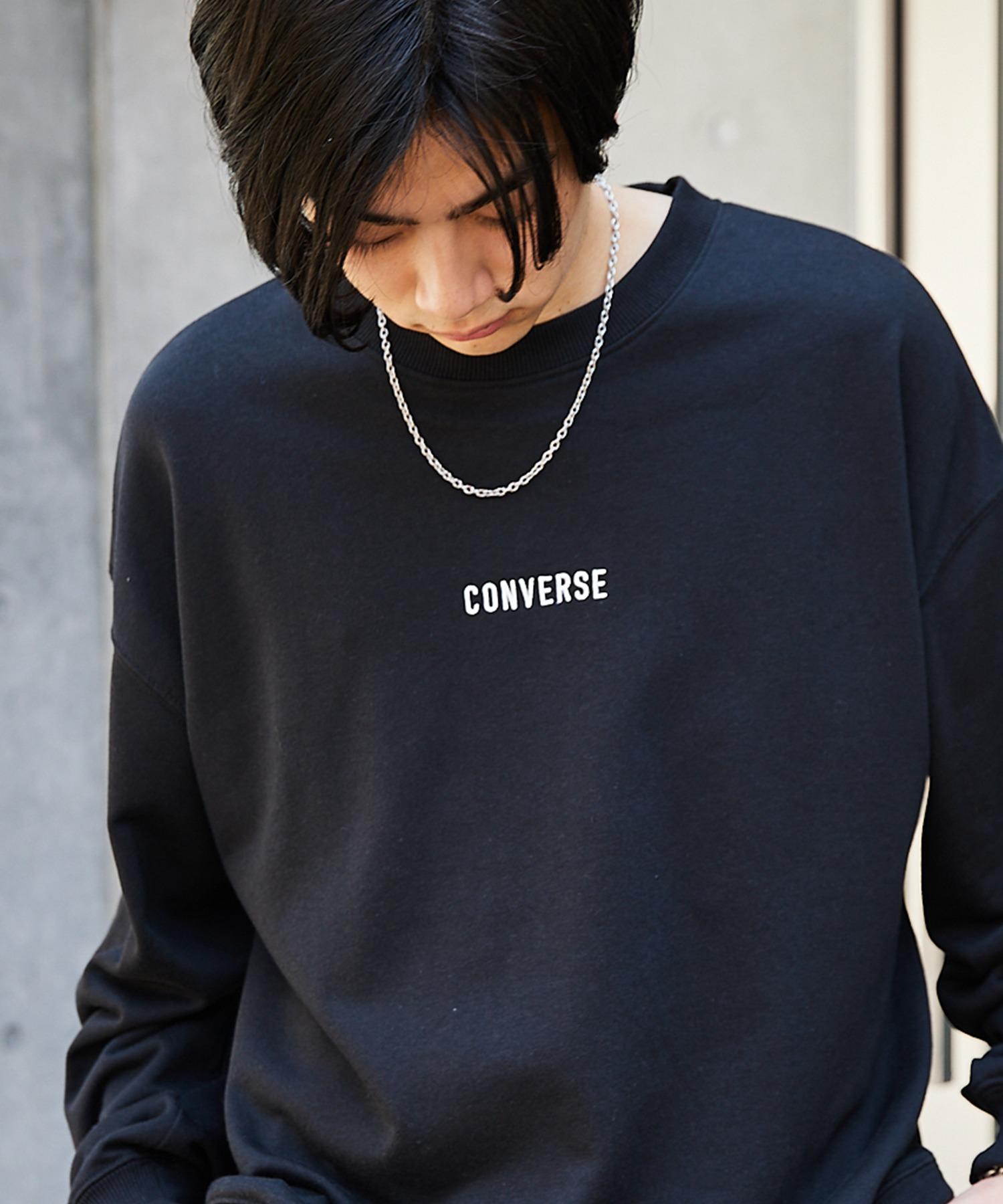 CONVERSE/コンバース 別注 フロント/袖刺繍 オーバーサイズプルオーバースウェット