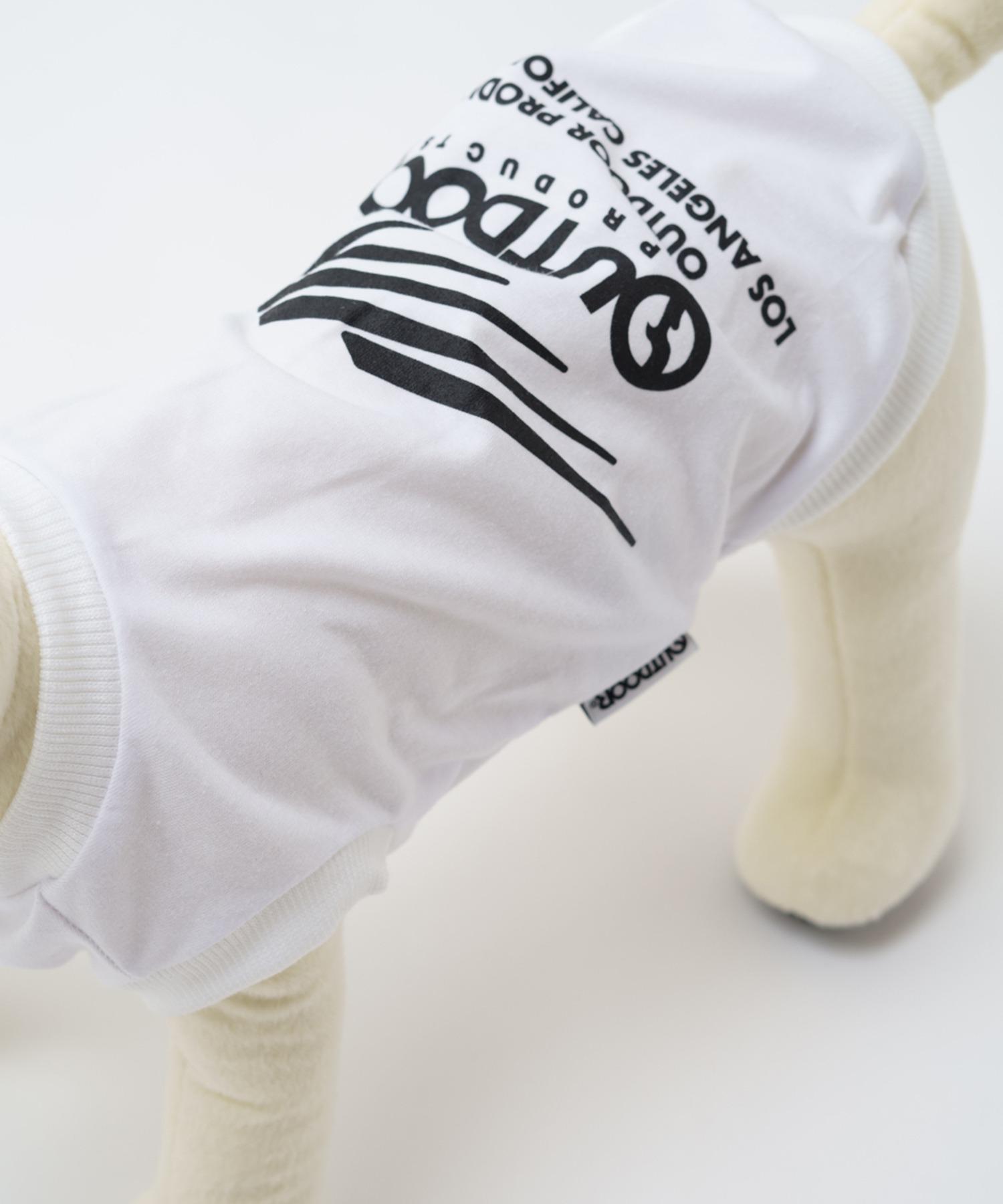 DOGブランドロゴプリントTシャツ(ホワイト) ドッグウェア ペットグッズ