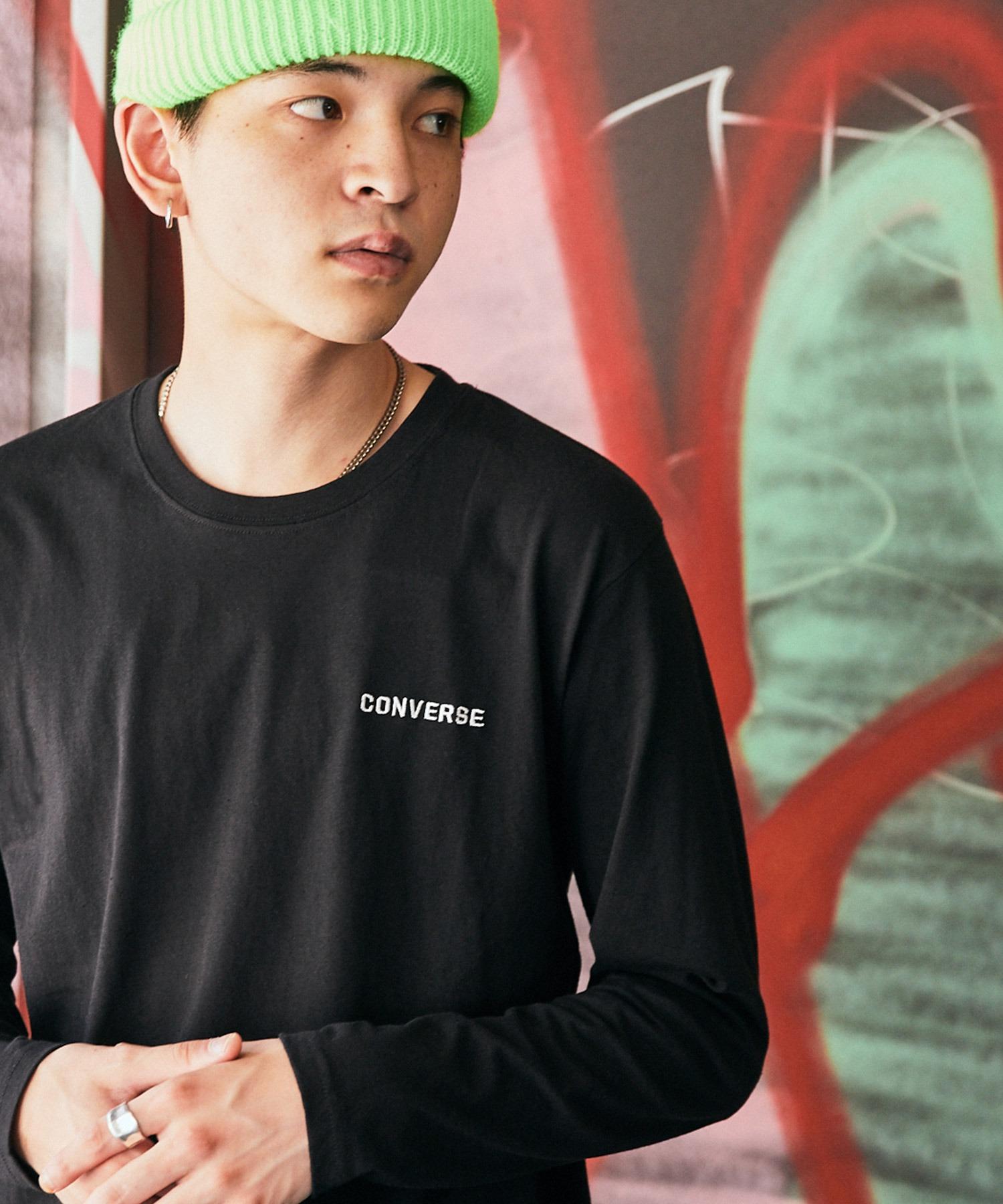 CONVERSE/コンバース 天竺 刺繍ロゴ L/S Tシャツ/長袖ティーシャツ