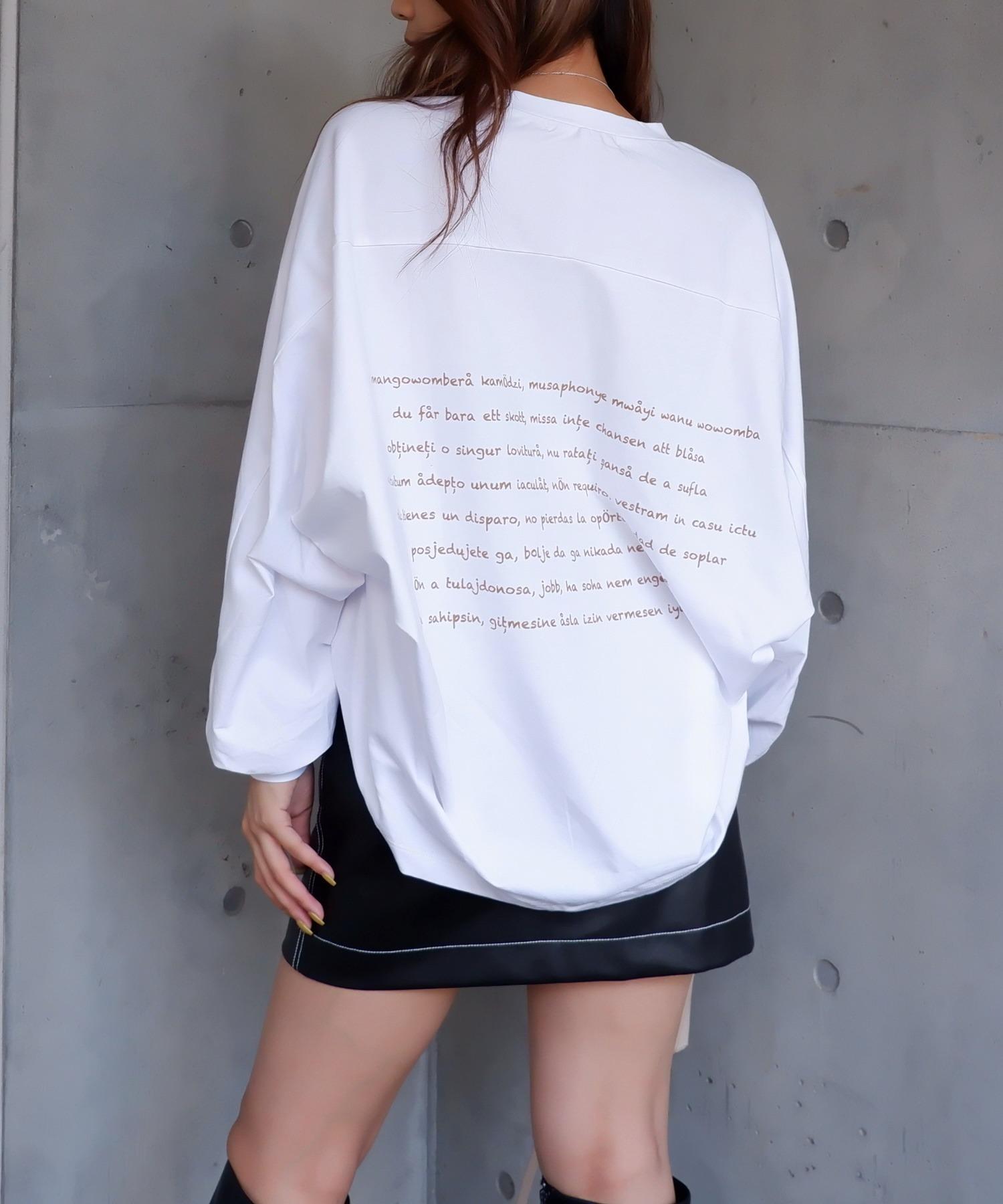 バックプリントドルマン長袖Tシャツ