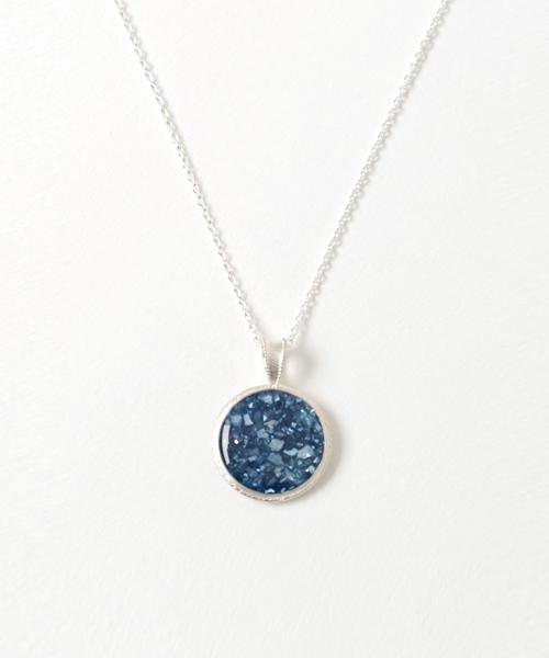 SV藍染ネックレス