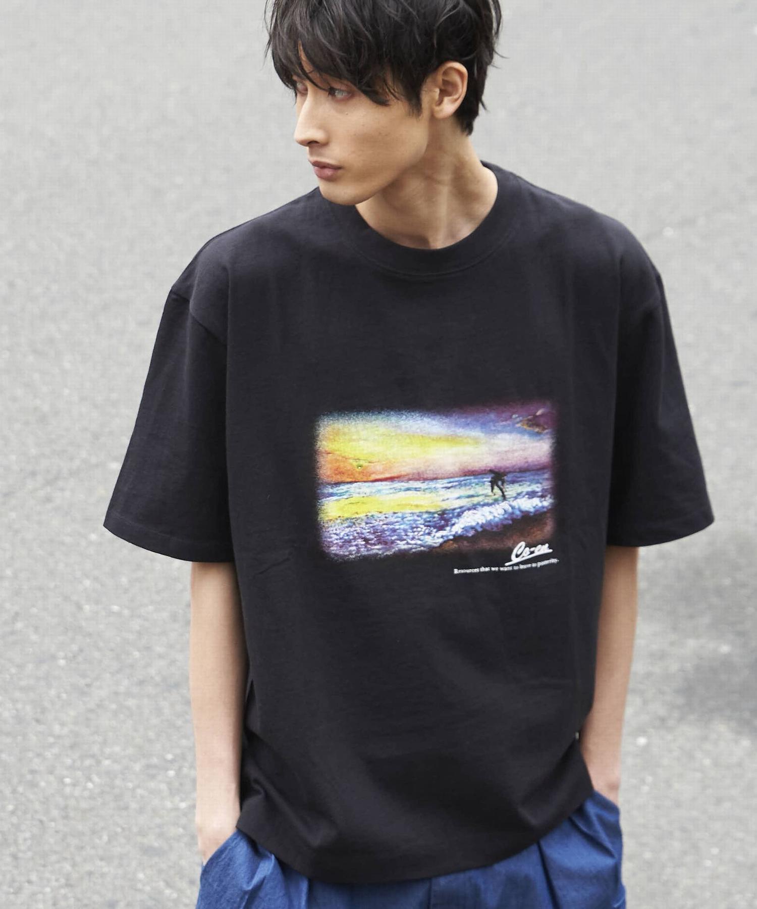 ビッグシルエットプリントTシャツ1_a