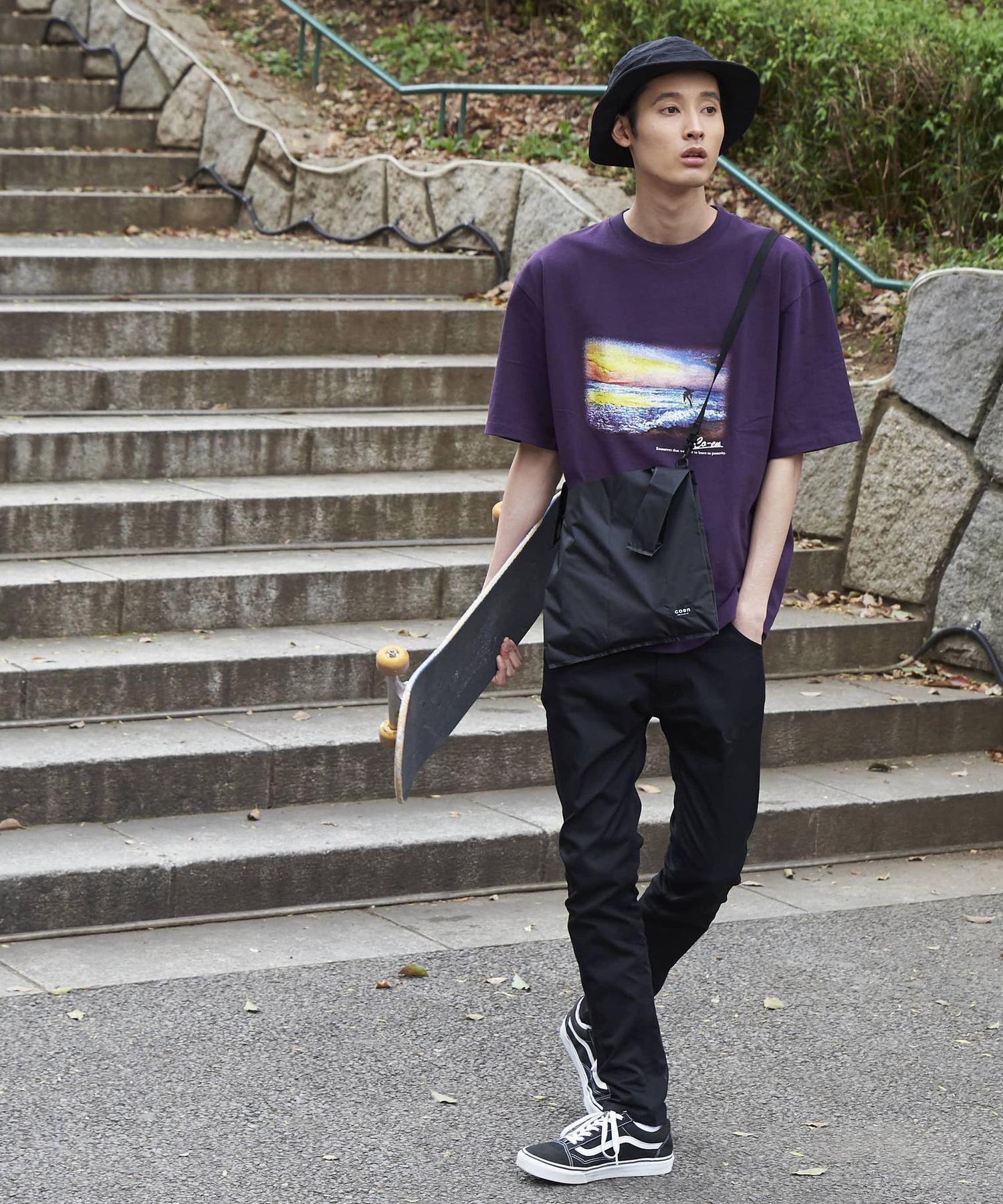 ビッグシルエットプリントTシャツ1_b