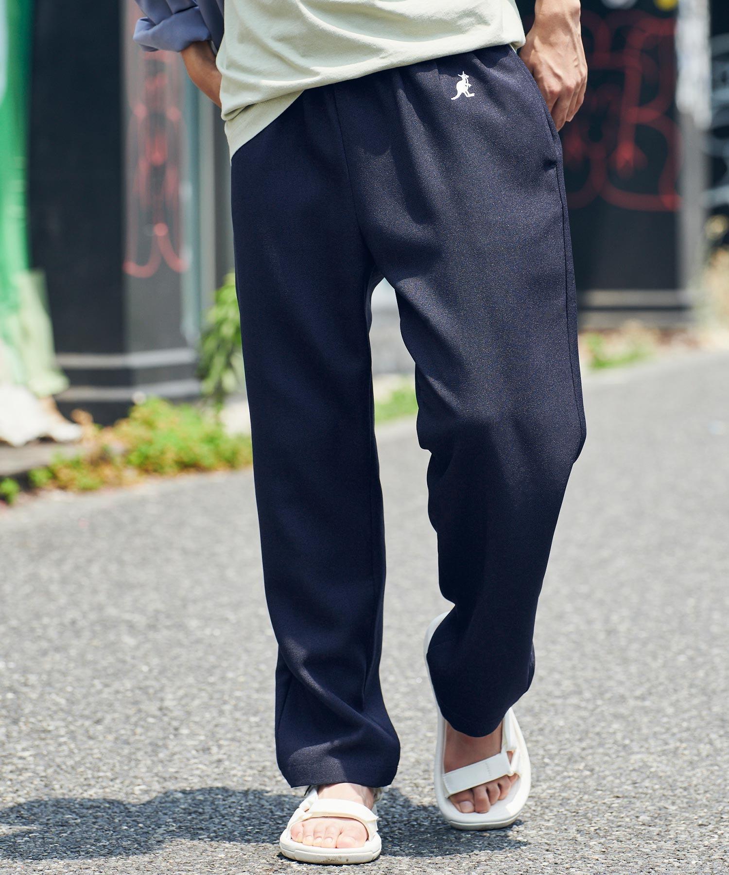 KANGOL/カンゴール MONO-MART別注 テックリネン ロゴ刺繍 シェフパンツ