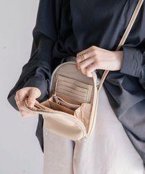 お財布ショルダーバッグ(ミニバッグ/フェイクレザー/カード入れ/スマホ用ショルダーバッグ)