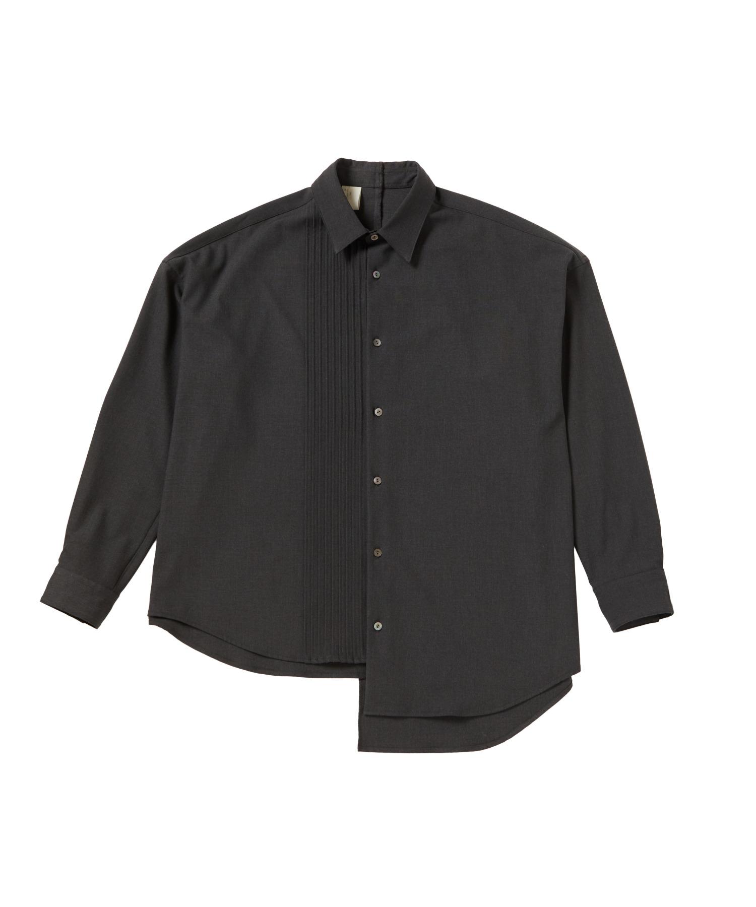 FALL2020 PLEATED DRESS SHIRT