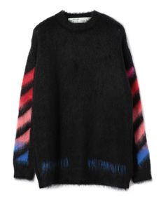 "OFF-WHITE / ""DIAG BRUSHED MOHAIR CREWNECK"" クルーネックニット"