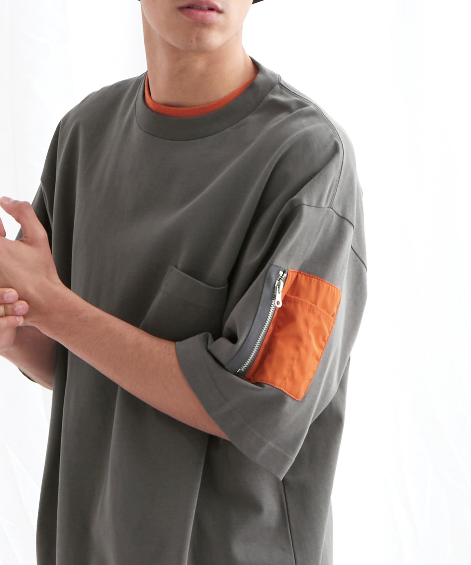 ユーティリティポケットS/Sカットソー【EMMA CLOTHES/エマクローズ】2021SS