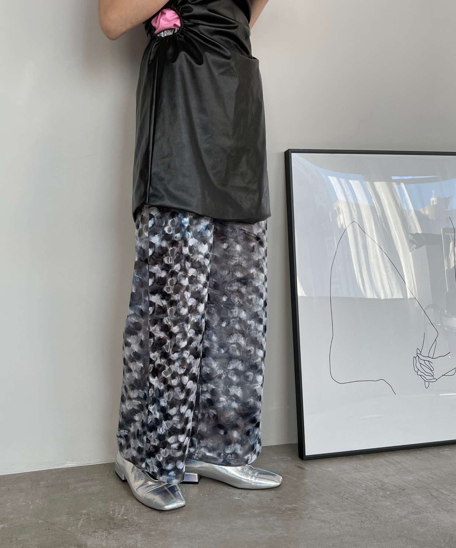 【SANSeLF】 light velor pants sanwz6
