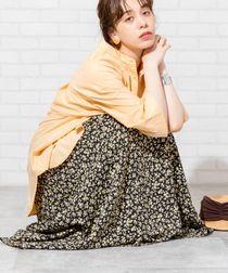 【新色入荷】プリントタックロングスカート