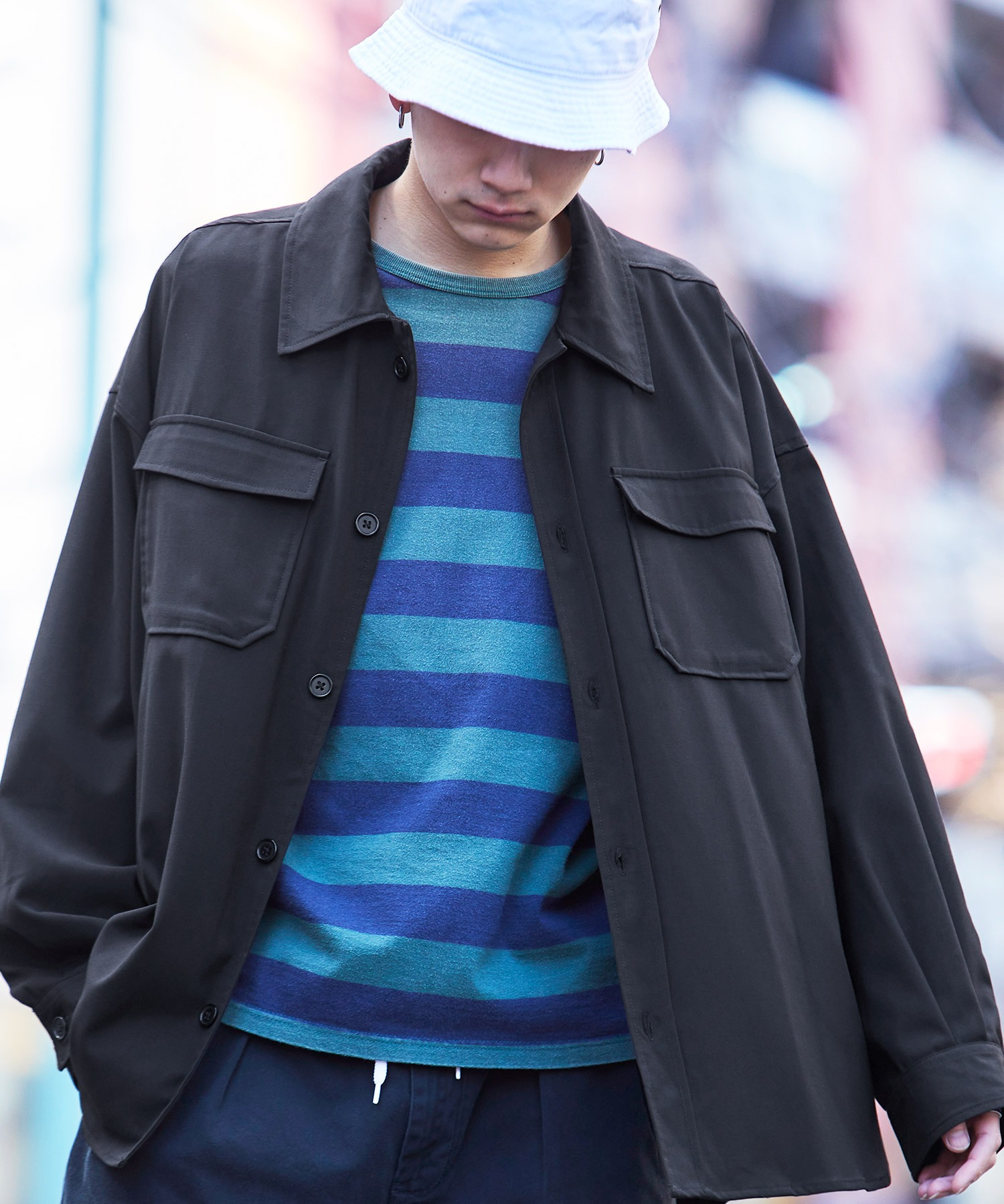 【ユニセックスで着用可能!】ツイル コーデュロイ CPOシャツ/オーバーサイズシャツ/シャツジャケット/セットアップ可