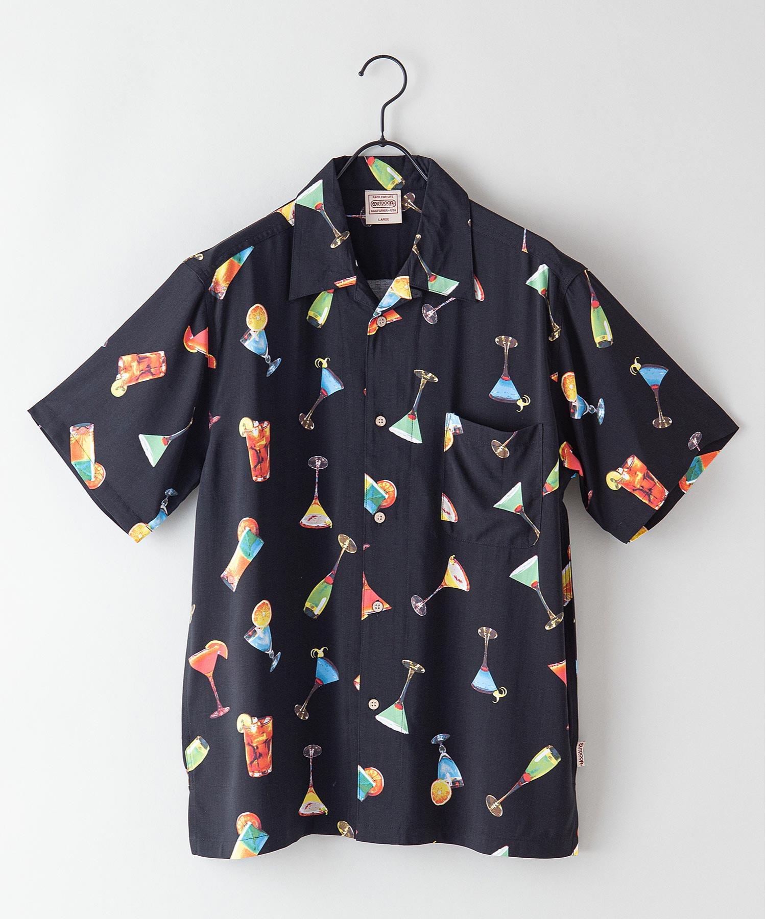 レーヨンアロハ レーヨン素材 オープンカラー(開襟) アロハシャツ