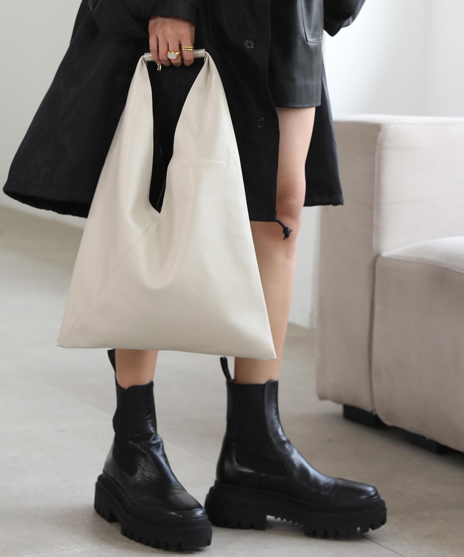 【chuclla】Triangle  soft leather bag  cha166
