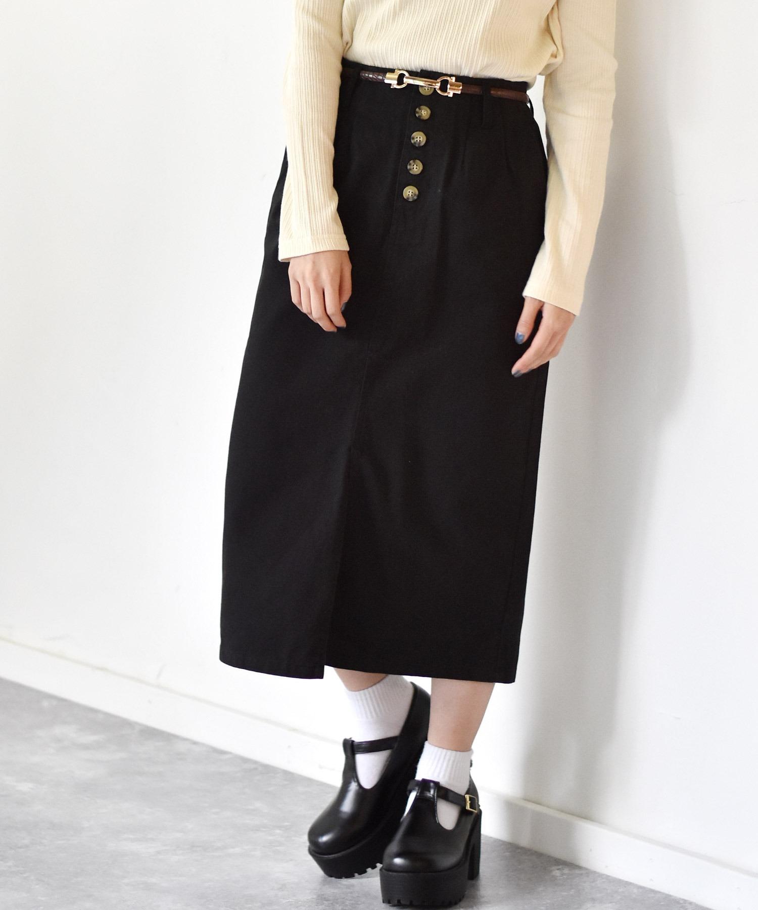 細ベルト付ナロースカート