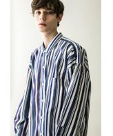 <monkey time> MULTI STRIPE PANEL OVERSIZED REG/シャツ