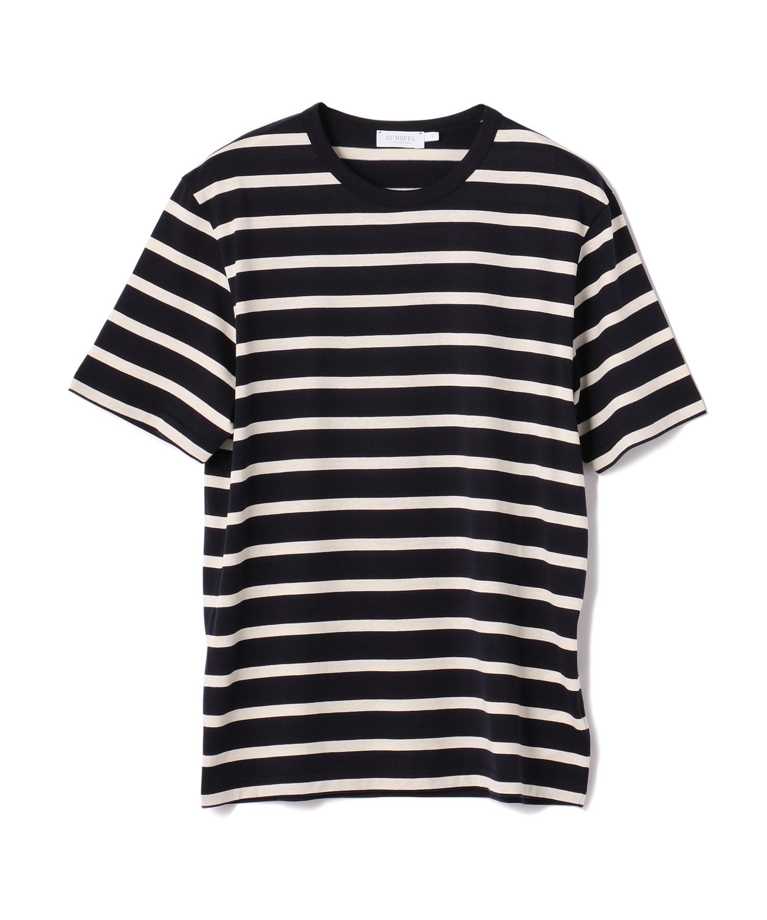 SUNSPEL / ボーダークルーネックTシャツ