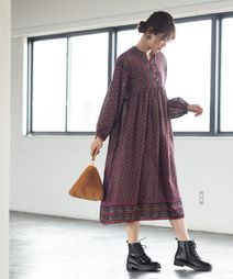 【Market】モロッカンプリントワンピース