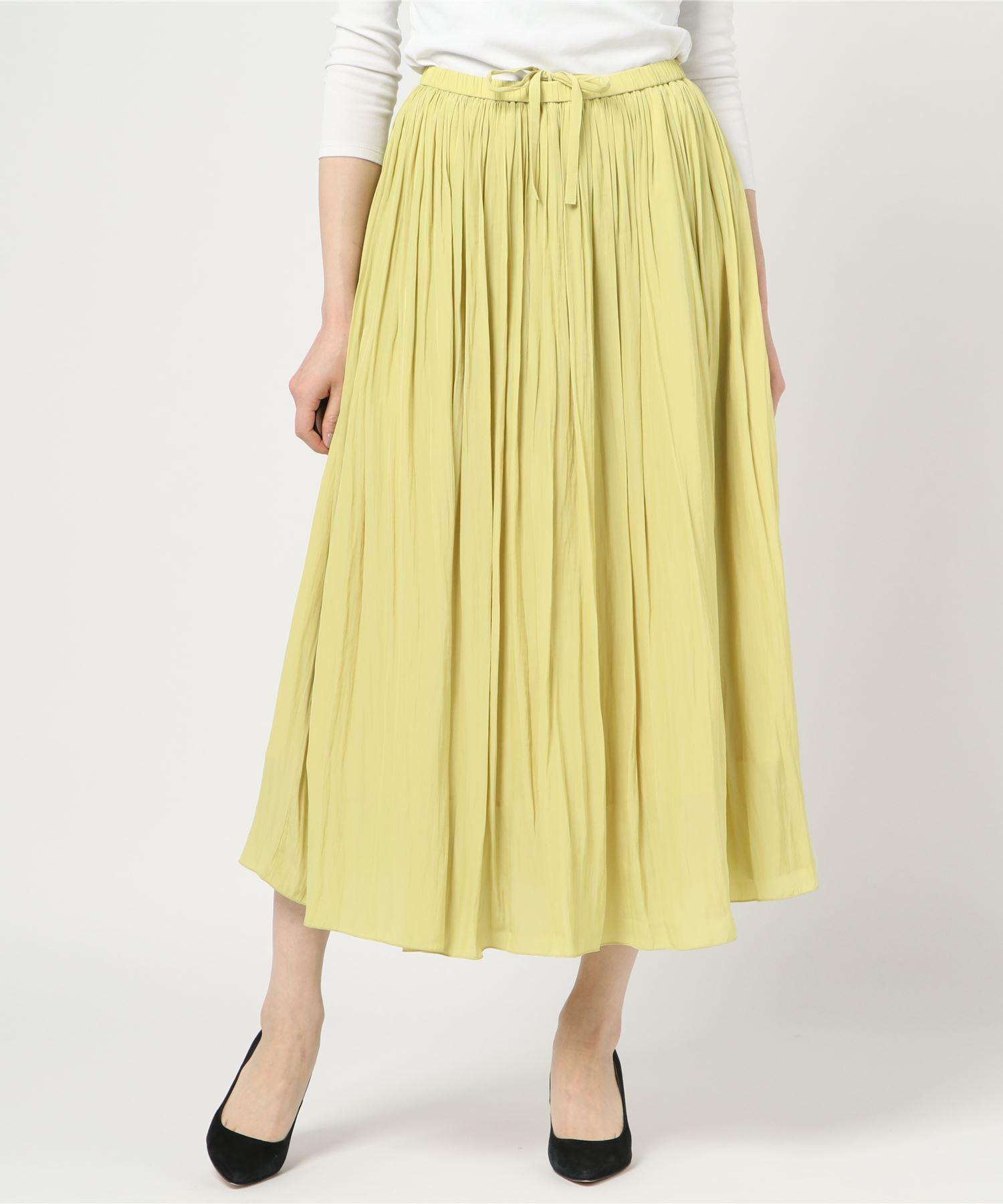 アメリカンラグシー AMERICAN RAG CIE / マイクロデシンロングギャザースカート Micro Crepe De Chine Long Gathered Skirt