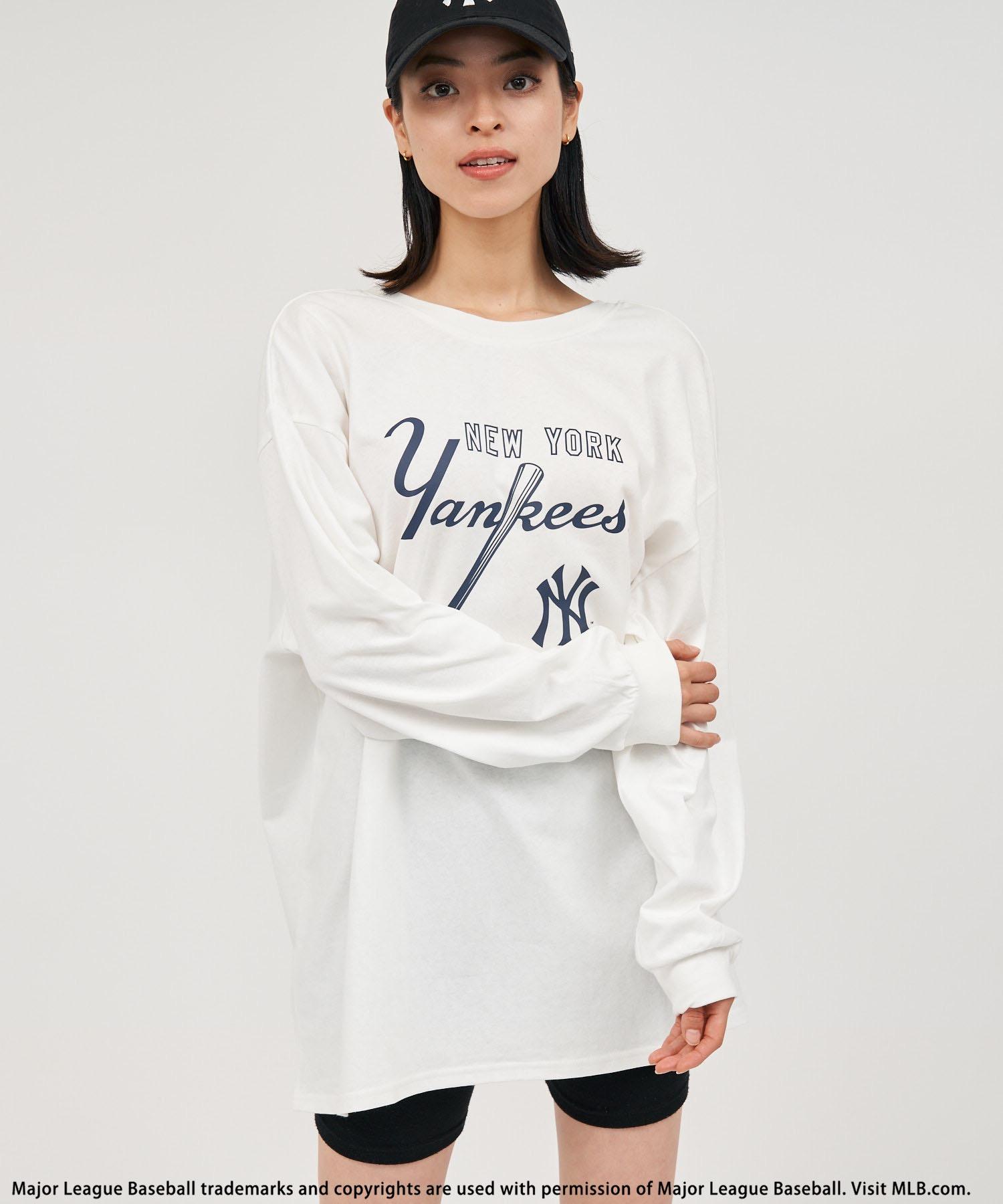 【MLB】バックオープンロングスリーブTシャツ