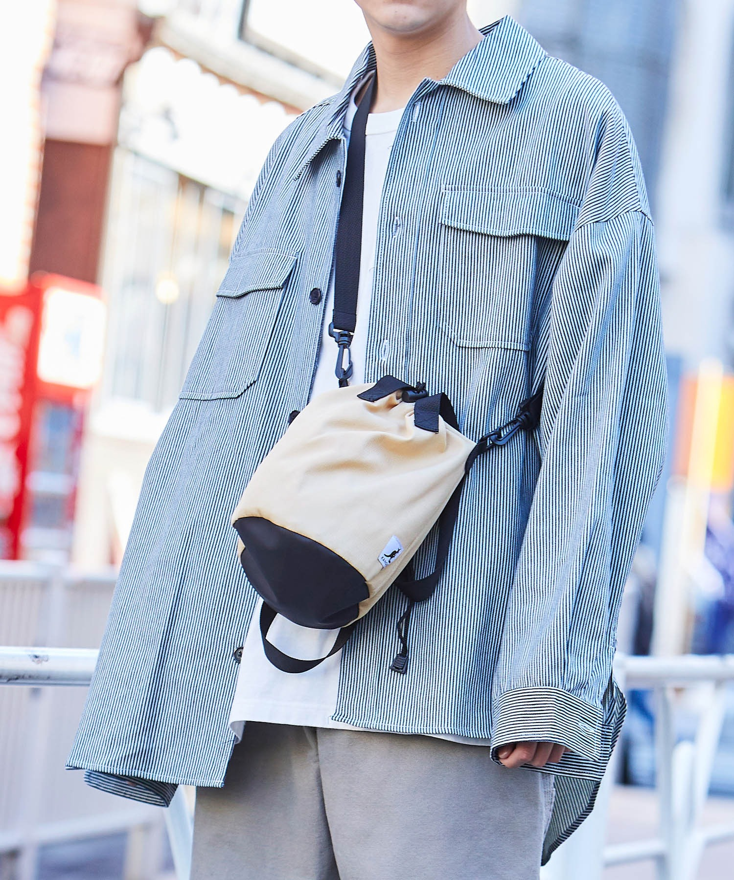 KANGOL/カンゴール MONO-MART別注 ショルダーバッグ 巾着バッグ