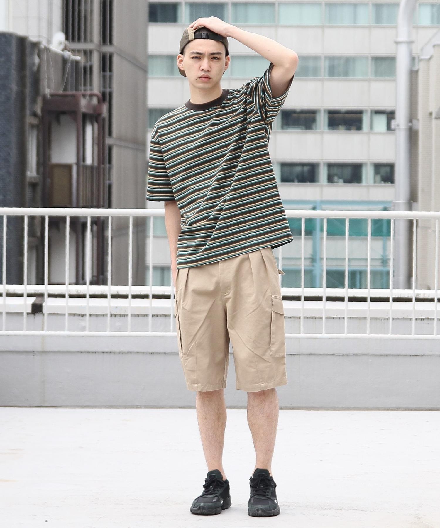 ビッグシルエットマルチボーダーTシャツ2