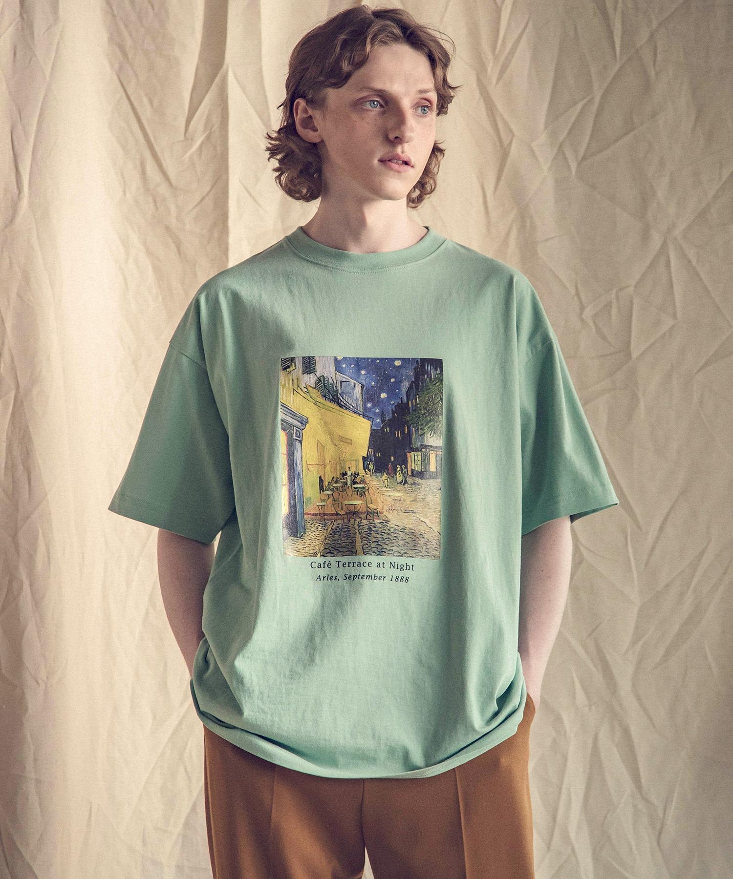 ART×EMMA CLOTHES別注 アート転写プリントビックシルエット半袖カットソー