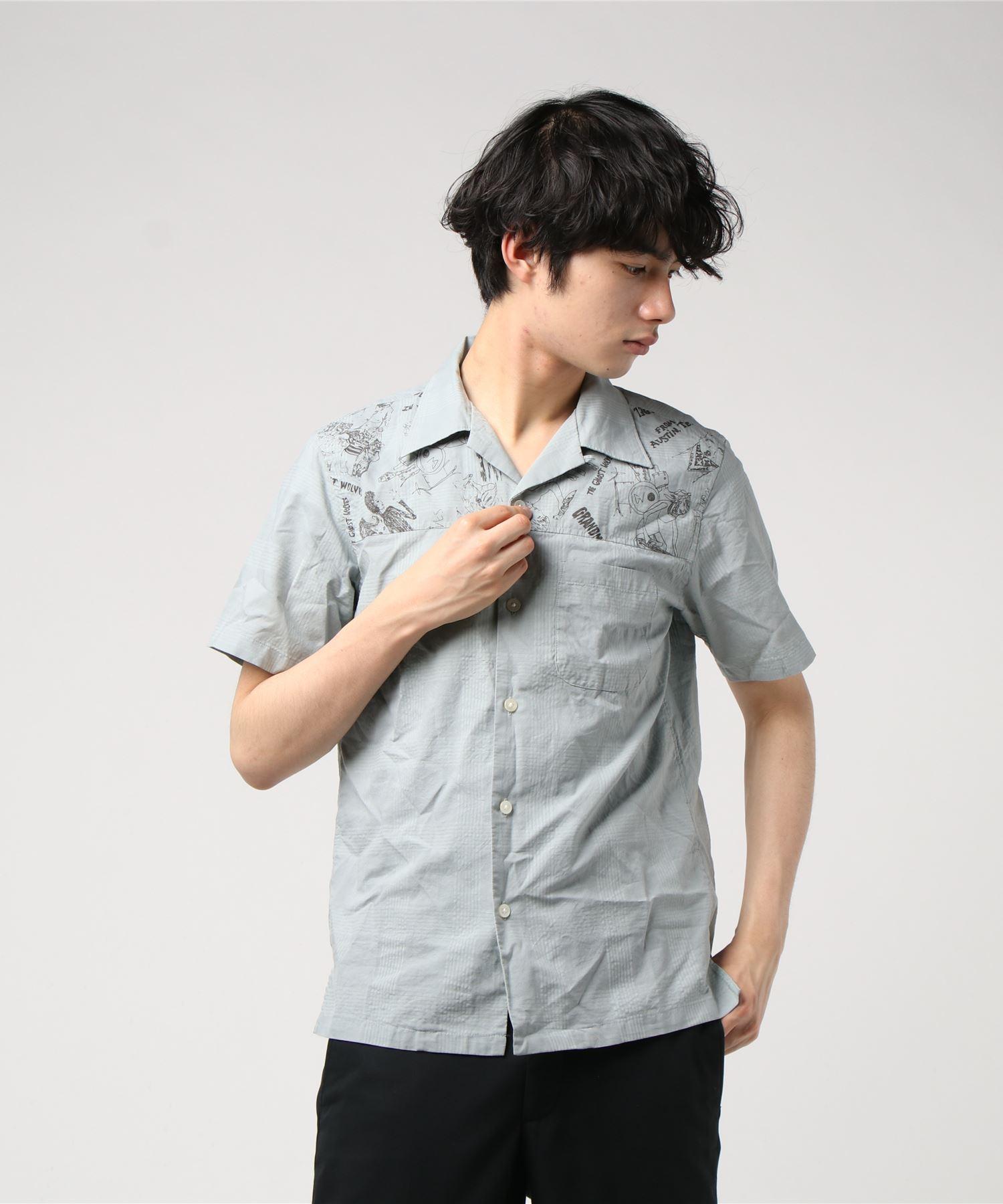 THE GHOST WOLVES/POLAR POWER pt 半袖オープンカラーシャツ