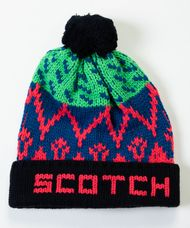 スコッチアンドソーダ SCOTCH & SODA / パターン ポンポン付きスキービーニー