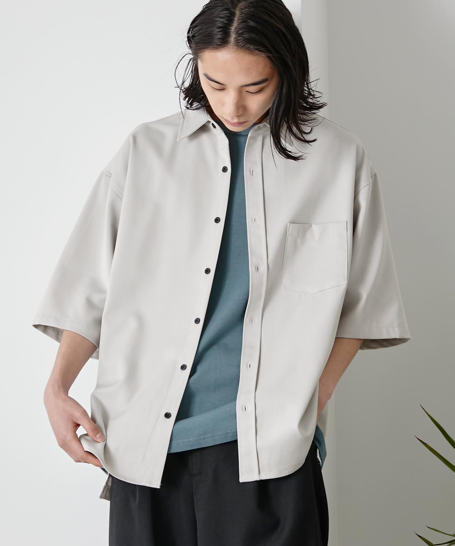 オーバーサイズTRストレッチレギュラーカラーシャツ 半袖