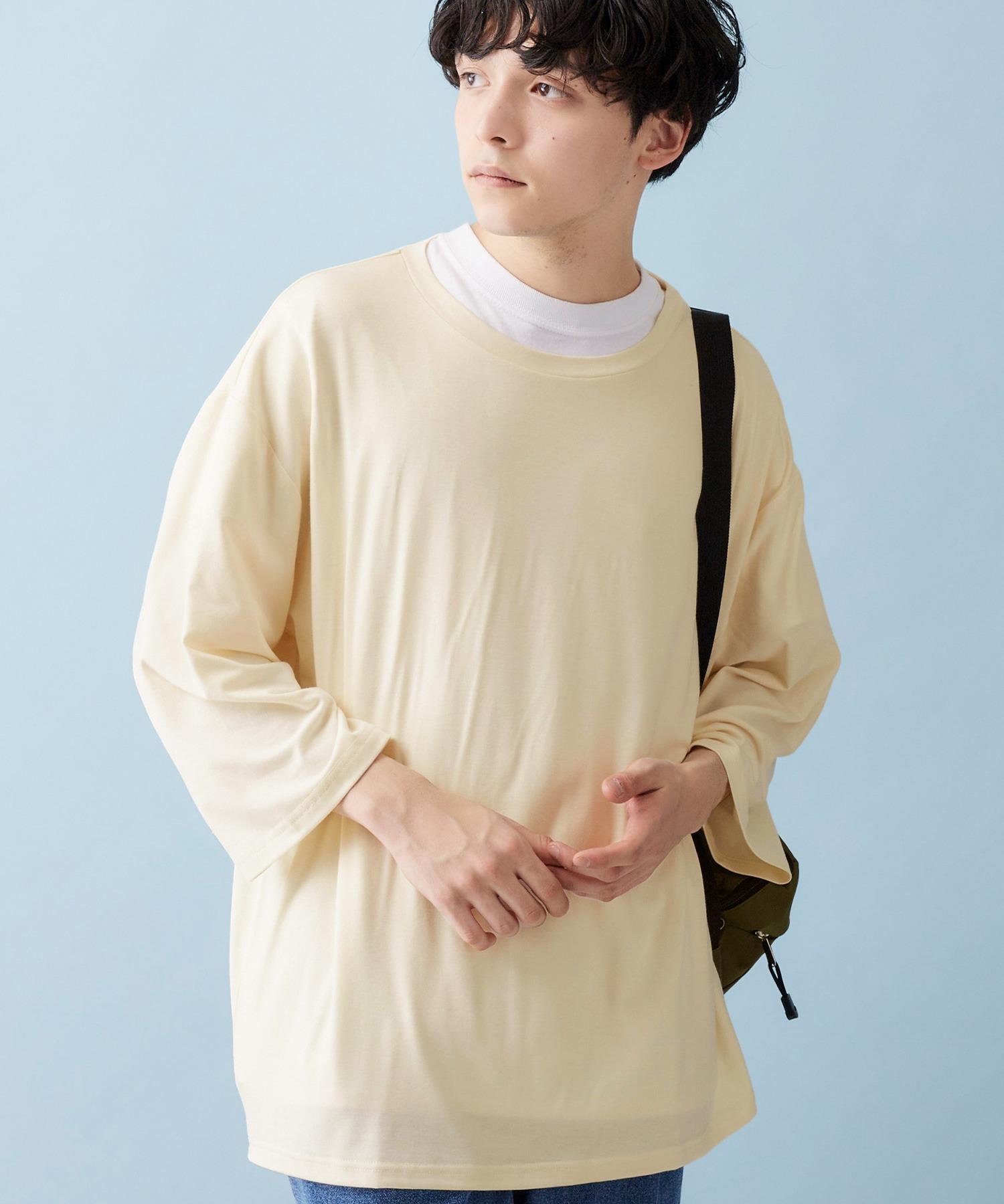 ビッグシルエットドロップショルダー ビッグシルエット とろみカットソー(summer sleeve)