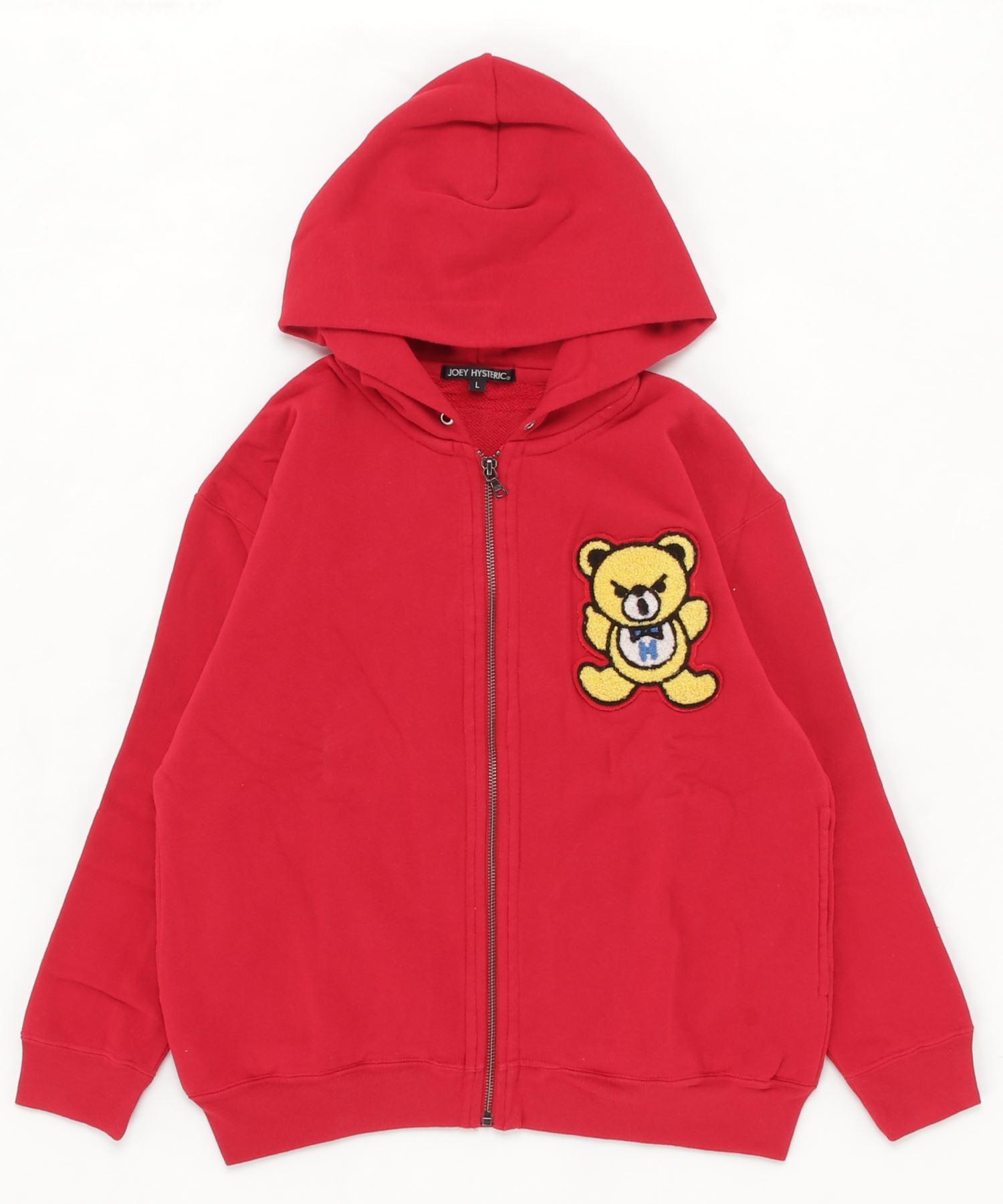 HYS BEAR刺繍 ビッグパーカー【L】