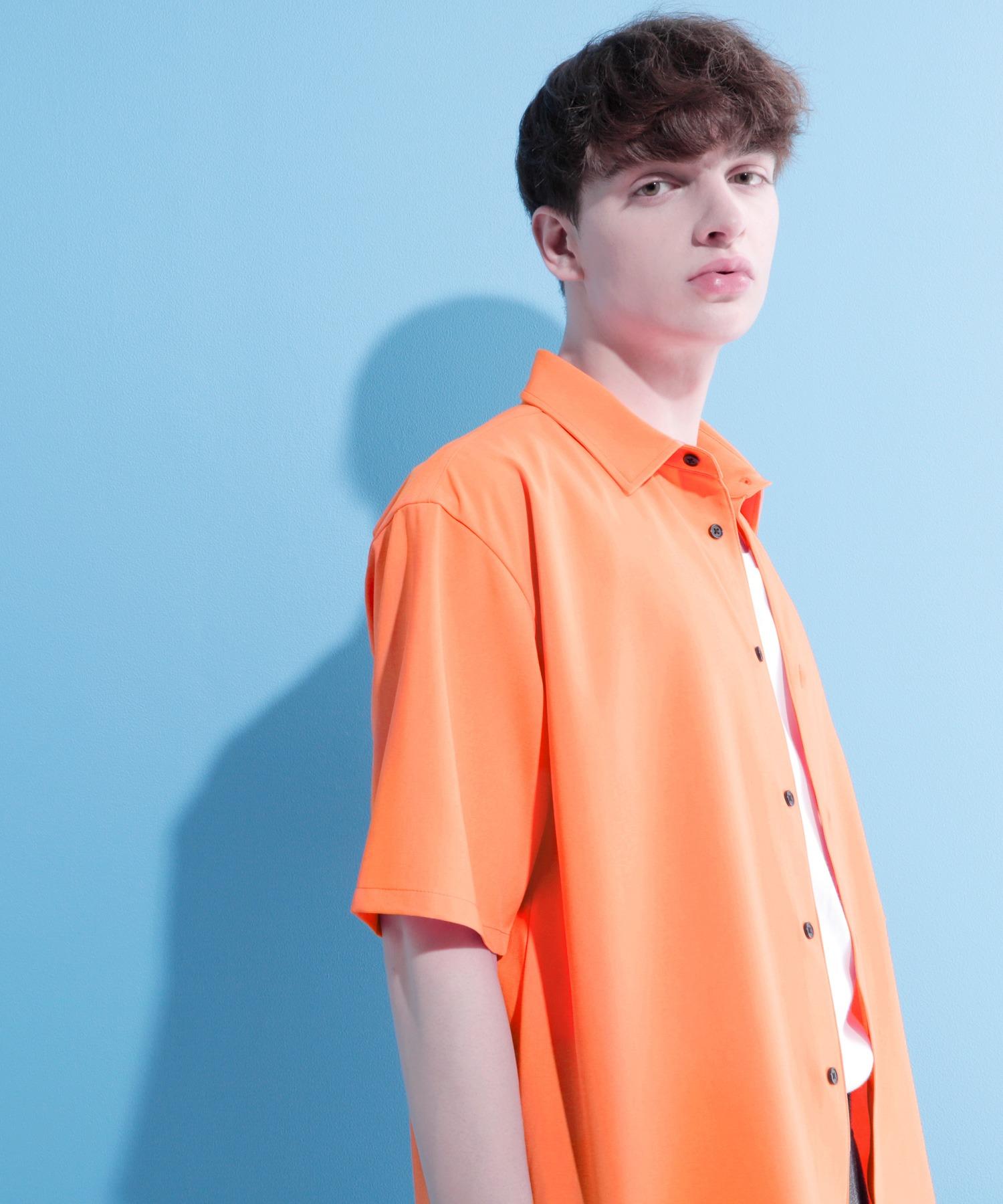 ブライトポプリンリラックススクエア レギュラーカラー シャツ Poplin Regular Collar Shirt 1/2 short sleeve
