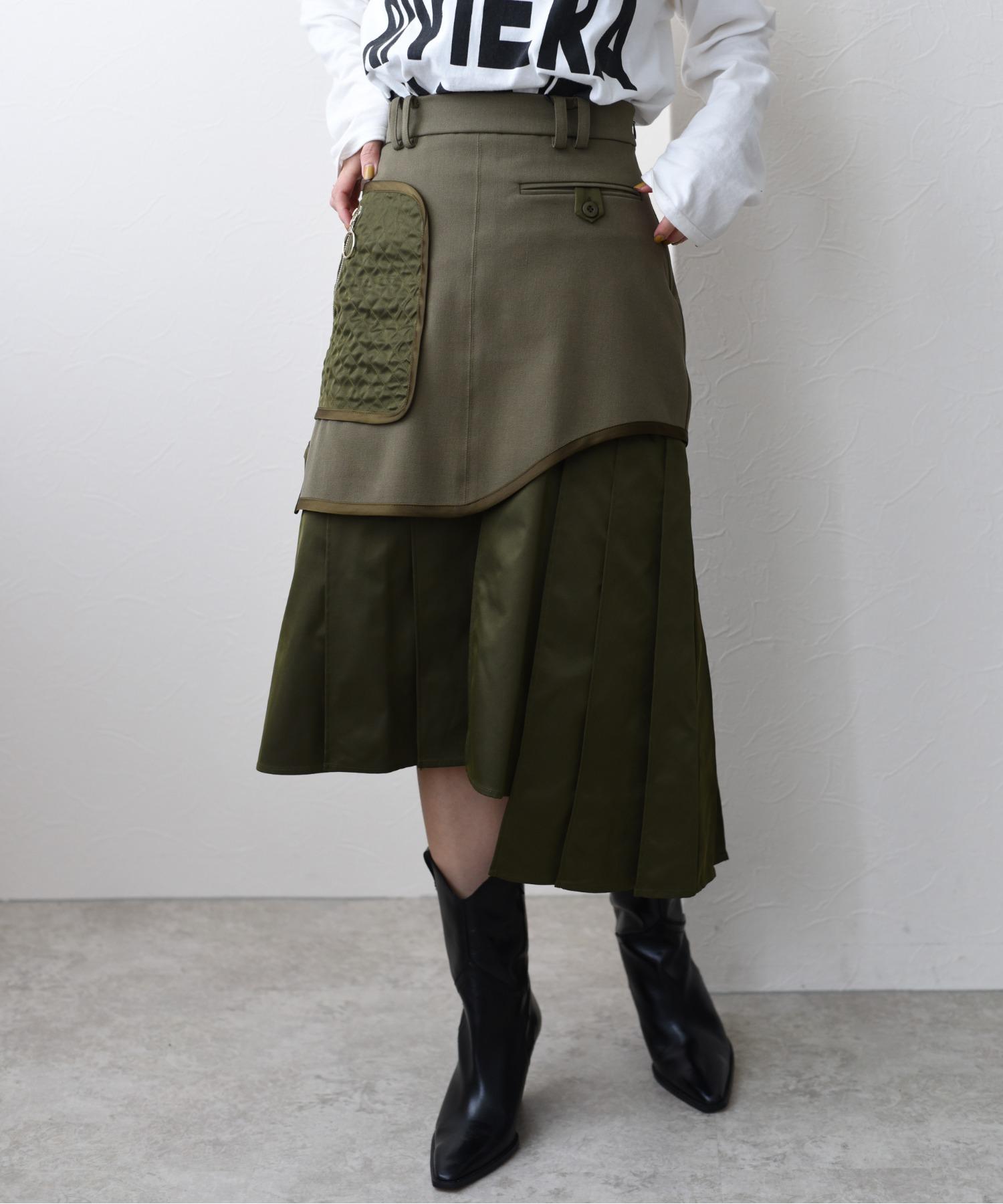 ミリタリーデザインスカート