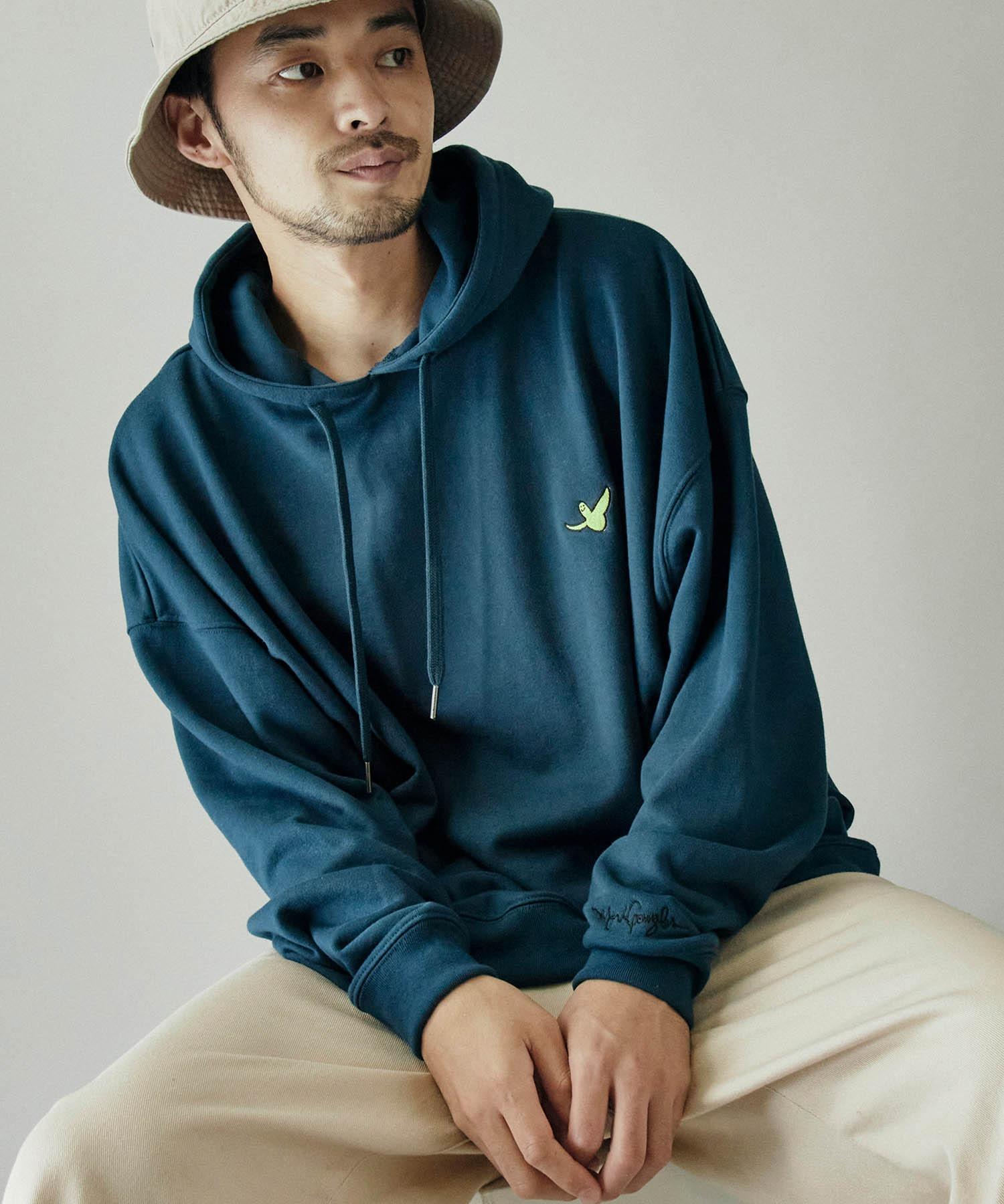 Mark Gonzales/マークゴンザレス MONO-MART別注ロゴ刺繍 オーバーサイズ プルオーバーパーカー