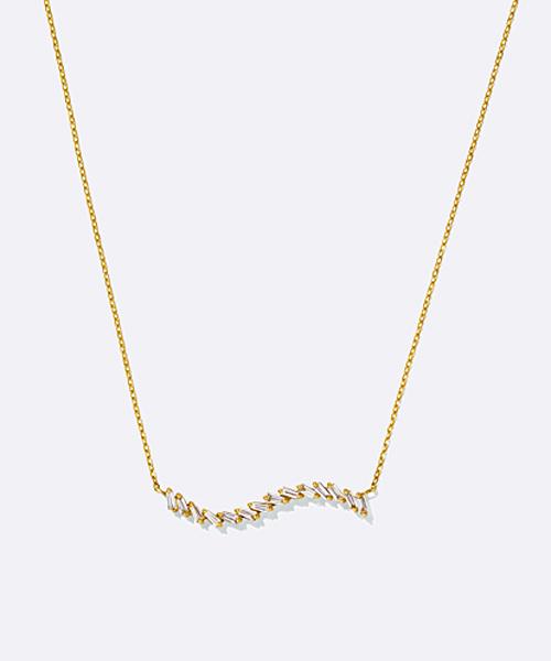 K18YGダイヤモンドネックレス