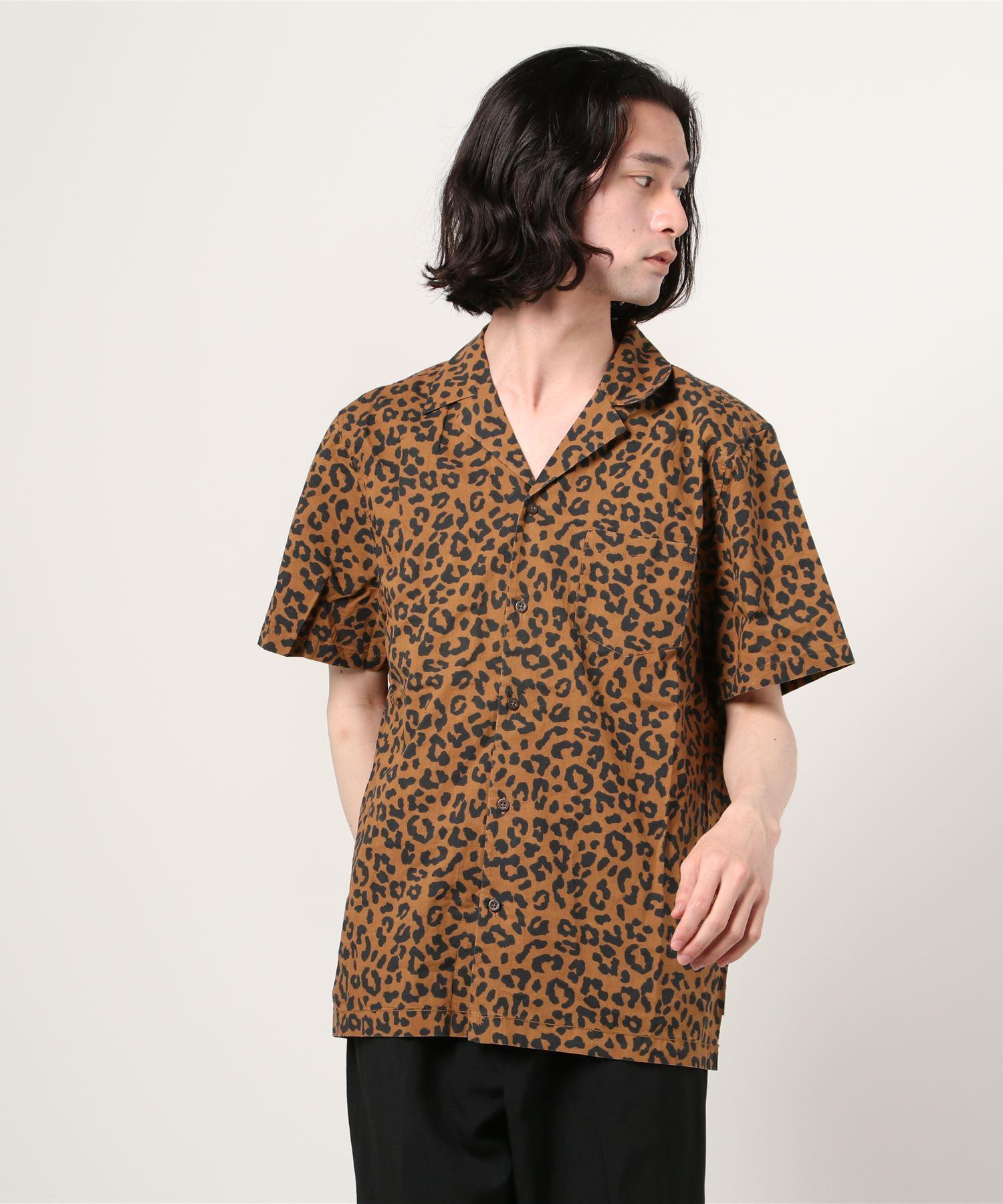 【 BANKS JOURNAL / バンクスジャーナル 】WILDER レオパード柄 半袖オープンカラーシャツ JJA