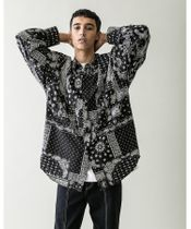 <monkey time> PAIZLY PRINT OVER SIZED CPO/シャツ