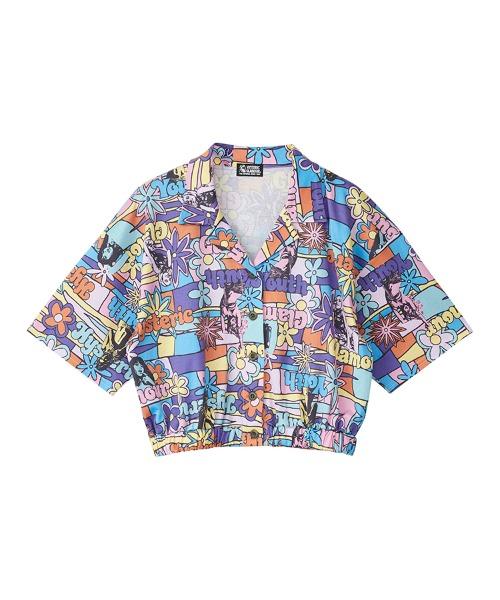 FLOWER GIRL柄 ショートシャツ